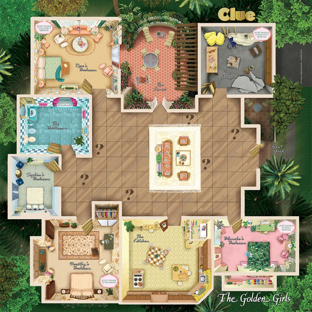 amazon com usaopoly the golden girls clue board game toys games