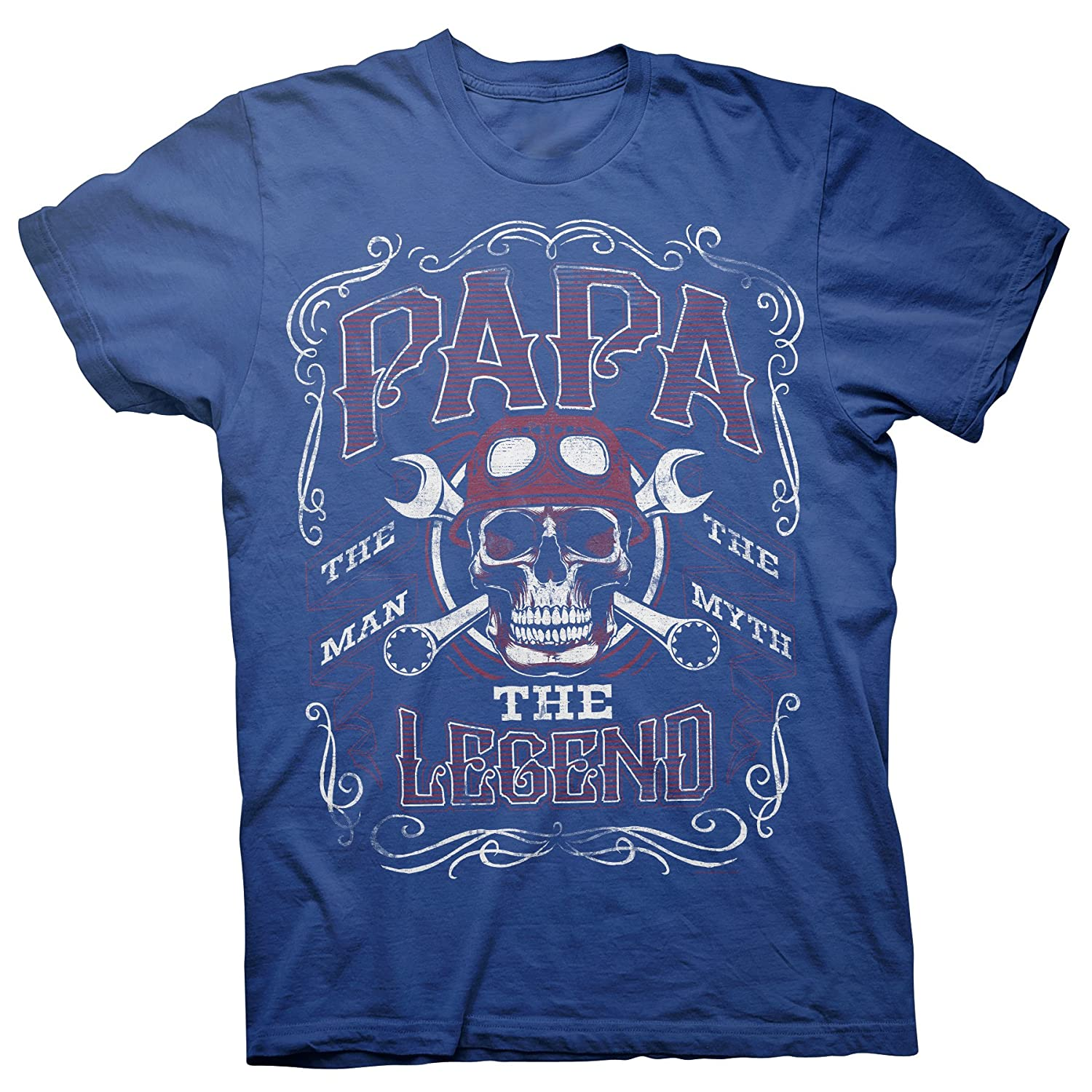 2fcc28c9 Amazon.com: Papa The Man The Myth The Legend - Fathers Day Mens T-Shirt:  Clothing