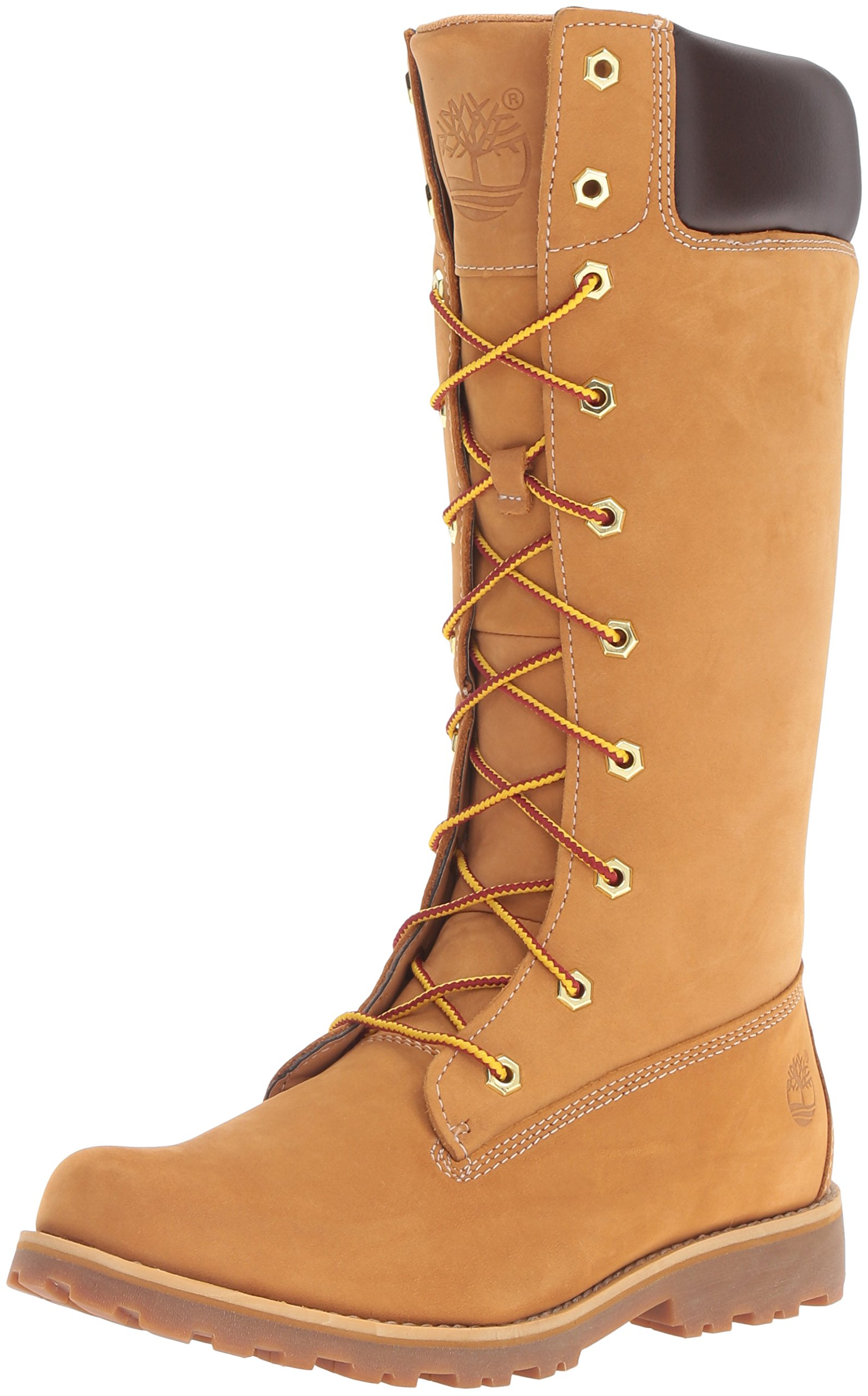 Timberland Asphalt Trail Classic Tall Lace Up With Side Zip (Toddler/Little Kid/Big Kid),Wheat,6.5 M US Big Kid
