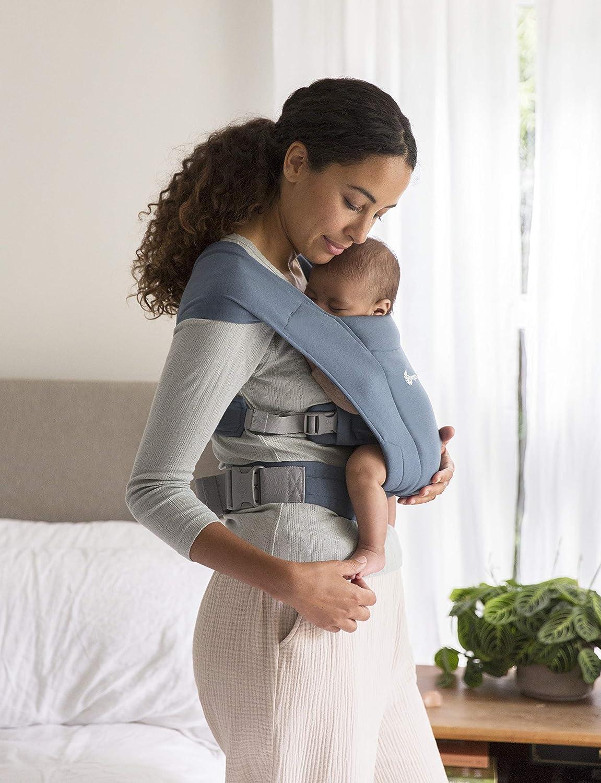Extra Suave y Ultraligero Ergobaby Embrace Mochila Portabebe Ergonomica Reci/én Nacidos Oxford Blue