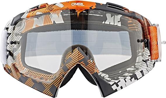O Neal Fahrrad Motocross Brille Mx Mtb Dh Fr Downhill Freeride Hochwertige 1 2 Mm 3d Linse Für Ultimative Klarheit Uv Schutz B 10 Goggle Erwachsene Unisex Schwarz Neon One Size Amazon De
