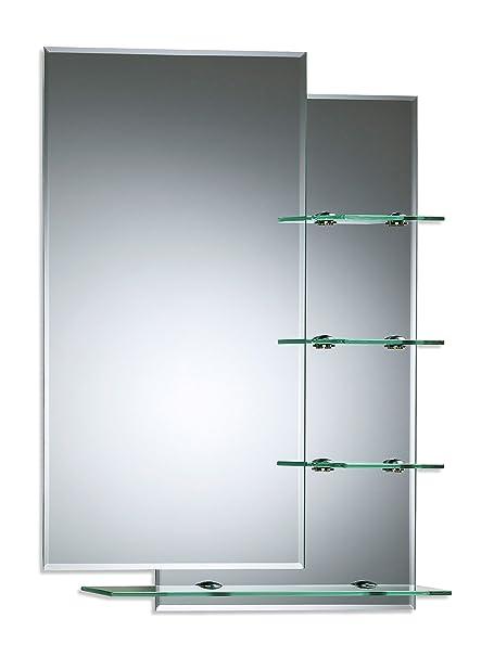 Neue Design Bathroom Mirror Modern Stylish With Shelves Double