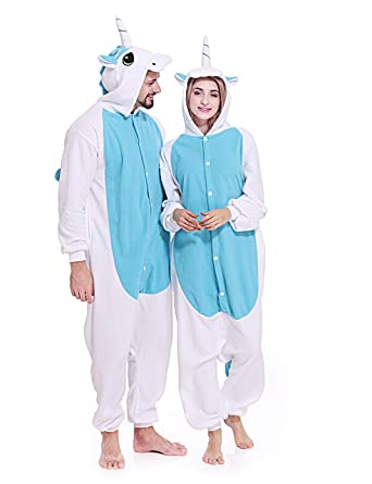 Amazon.com  Adult Unicorn Onesie Pajamas Unisex Christmas Costume Sleepwear  for Women Men  Clothing 8e958faa3aad