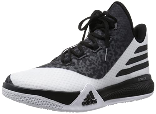 sports shoes 3f2a0 6049d adidas Herren Light EM UP 2 Basketballschuhe Weiß Grau Schwarz  (Ftwbla Negbas