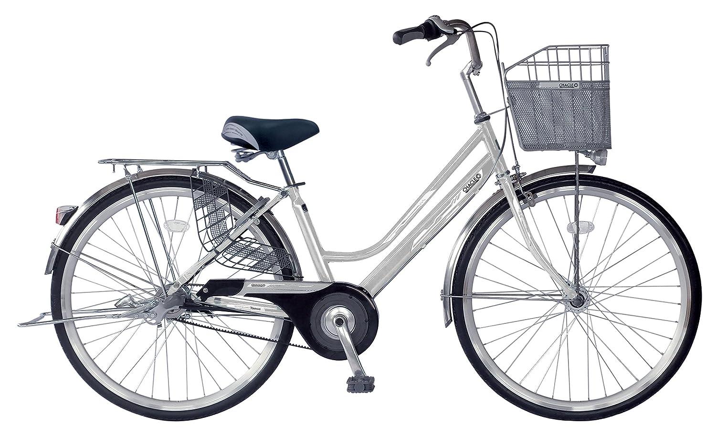 CHACLE(チャクル) 軽くて パンクしない自転車 軽快SW ベルトドライブ 内装3段仕様[BAA適合車/ステンレスハンドル/8倍明るいLEDオートライト/光るパーツ] FQ-CC273SW-BD-HDR-BAA B06X955G74 26インチ|シルバー シルバー 26インチ