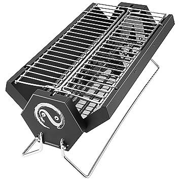 Andake Charcoal Grill - parrilla de barbacoa de carbón de carbón de acero inoxidable plegable con