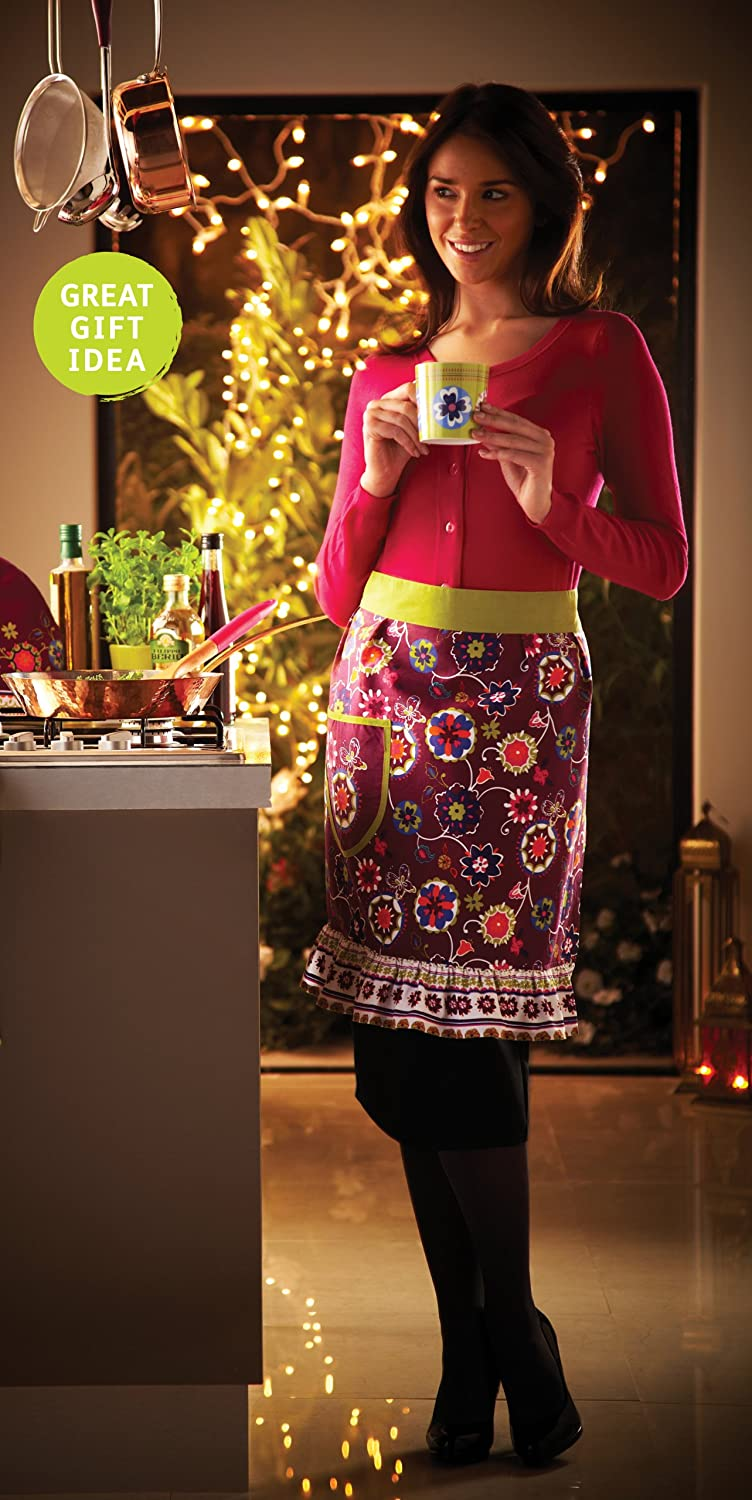 Suzani Floral Pinny Apron by Cooksmart