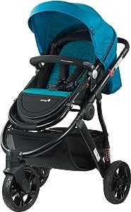Safety 1st Wanderer X Flat Lay Newborn Reversible Seat 3 Wheel Stroller, Blue Horizon Marle