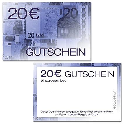 100 Geschenkgutscheine Für Kunden 20 Visitenkartengröße