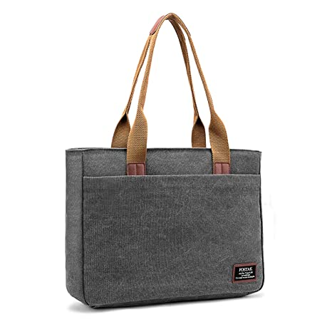 5f094c96dc79b DTBG Laptop Tote Bag, 15.6 Inch Women Shoulder Bag Canvas Briefcase Casual  Handbag Laptop Case for 15-15.6 Inch ...