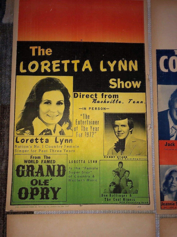 Country Music Legend LORETTA LYNN Show VINTAGE Concert Poster Original at  Amazon's Entertainment Collectibles Store