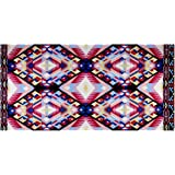 Stretch ITY Jersey Knit Abstract Aztec Pink Fabric By The Yard