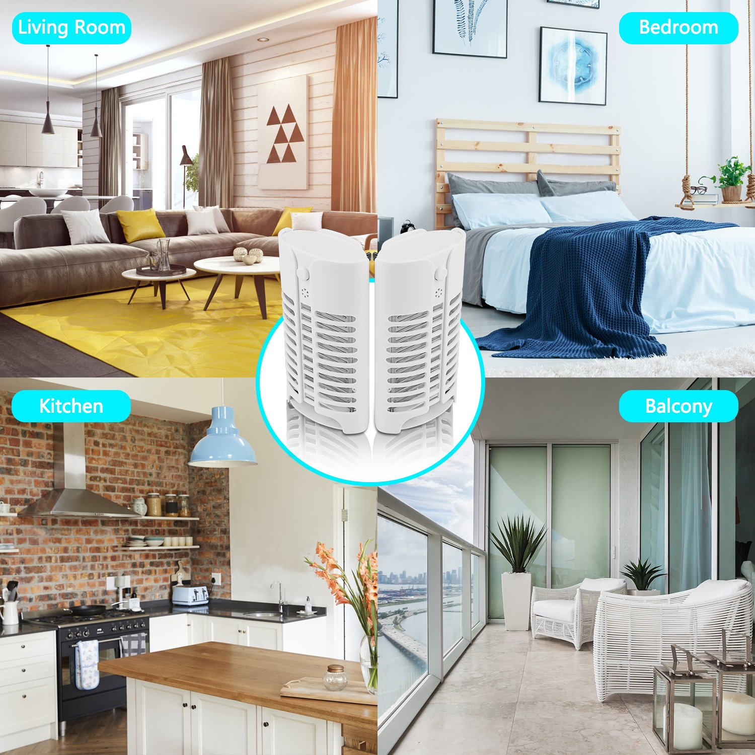 Lookka Fly Zapper with UV Light-Chemical-Free UV LED for Mosquito Killer Trap,Mini Pest Repellent for Mosquito//Flies//Small Flying Gnats,Indoor Home Kitchen Bedroom(UK PLUG White 1 Pack