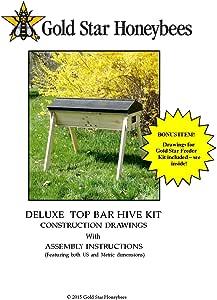 Amazon.com: Top Bar Hive DIY Plans by Gold Star Honeybees ...