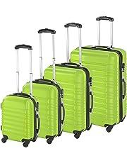 TecTake Set de 4 valises de Voyage de ABS avec Serrure à Combinaison intégrée   poignée télescopique   roulettes 360° - diverses Couleurs au Choix -
