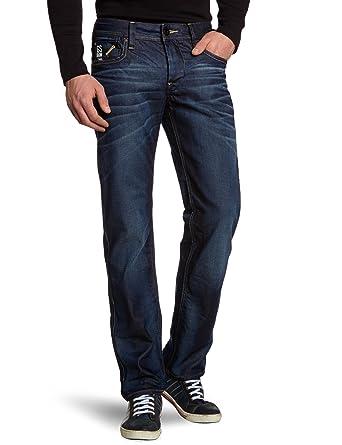 149ad6ec4a3 Amazon.com: G-Star Raw Men's Attacc Low Rise Straight Leg Jean in Dark Aged  Blue: Clothing
