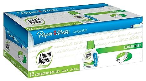 Amazon.com: Liquid Paper Fast Dry Ledger Buff Fluido de ...