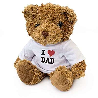 I Love DAD - Teddy Bear - Cute Soft Cuddly - Gift Present Birthday Xmas: Home & Kitchen