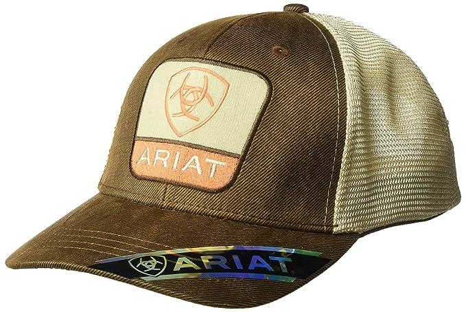 de4b44651cf53 Ariat Men s Center Taper Shield Patch Mesh Cap