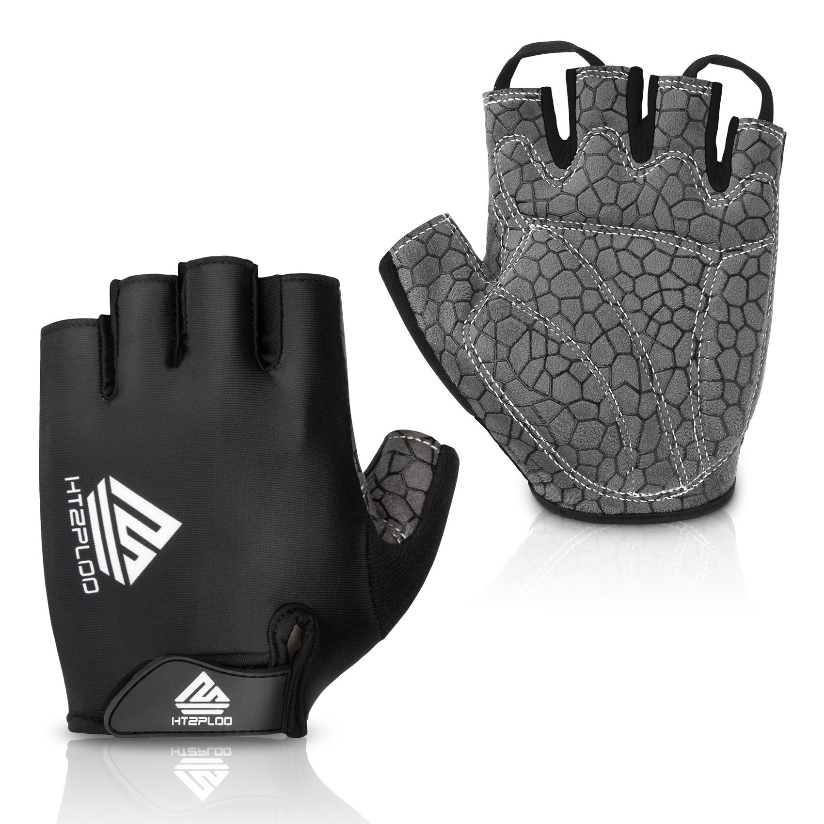 eb4317e00 HTZPLOO Bike Gloves Bicycle Gloves Cycling Gloves Mountain Biking Gloves  with Anti-Slip Shock-Absorbing Pad Breathable Half Finger Outdoor Sports  Gloves for ...