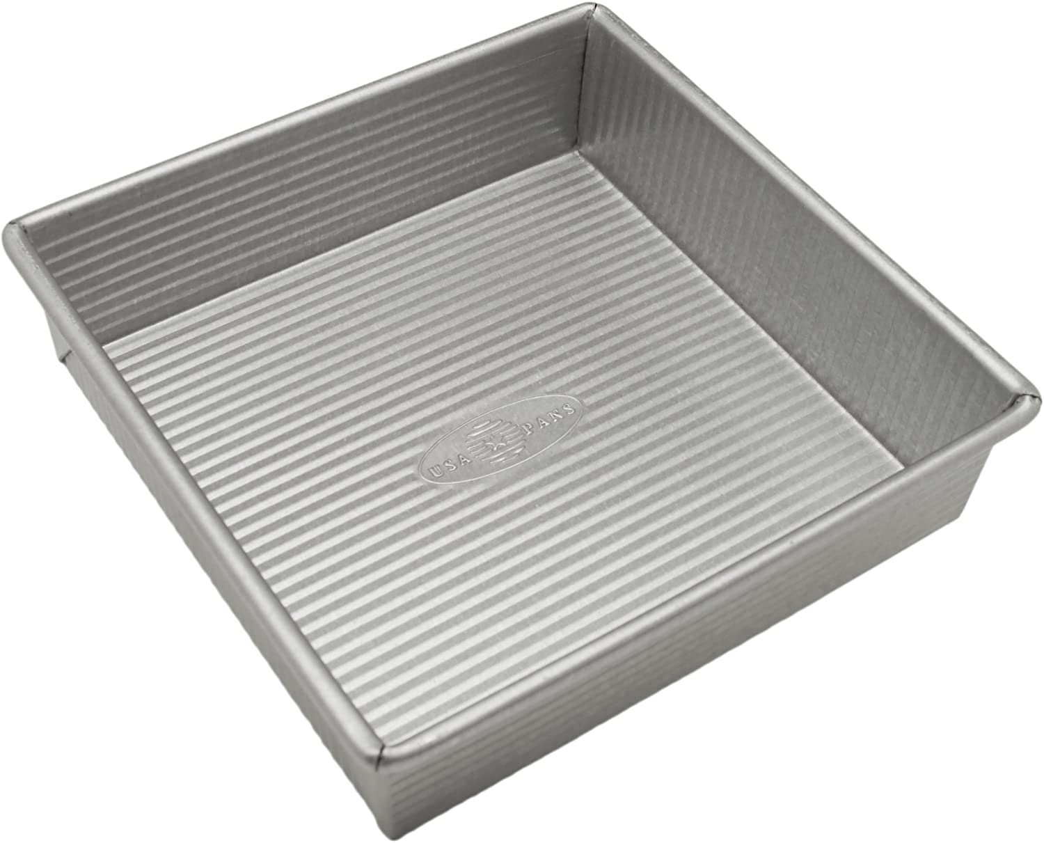 Amazon Com Usa Pan Bakeware Square Cake Pan 8 Inch Nonstick Quick Release Coating Made In The Usa From Aluminized Steel Usa Pans Bakeware Kitchen Dining