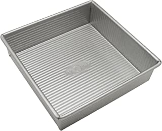 product image for USA Pan Bakeware Square Cake Pan, 8 inch, Nonstick & Quick Release Coating, Made in the USA from Aluminized Steel