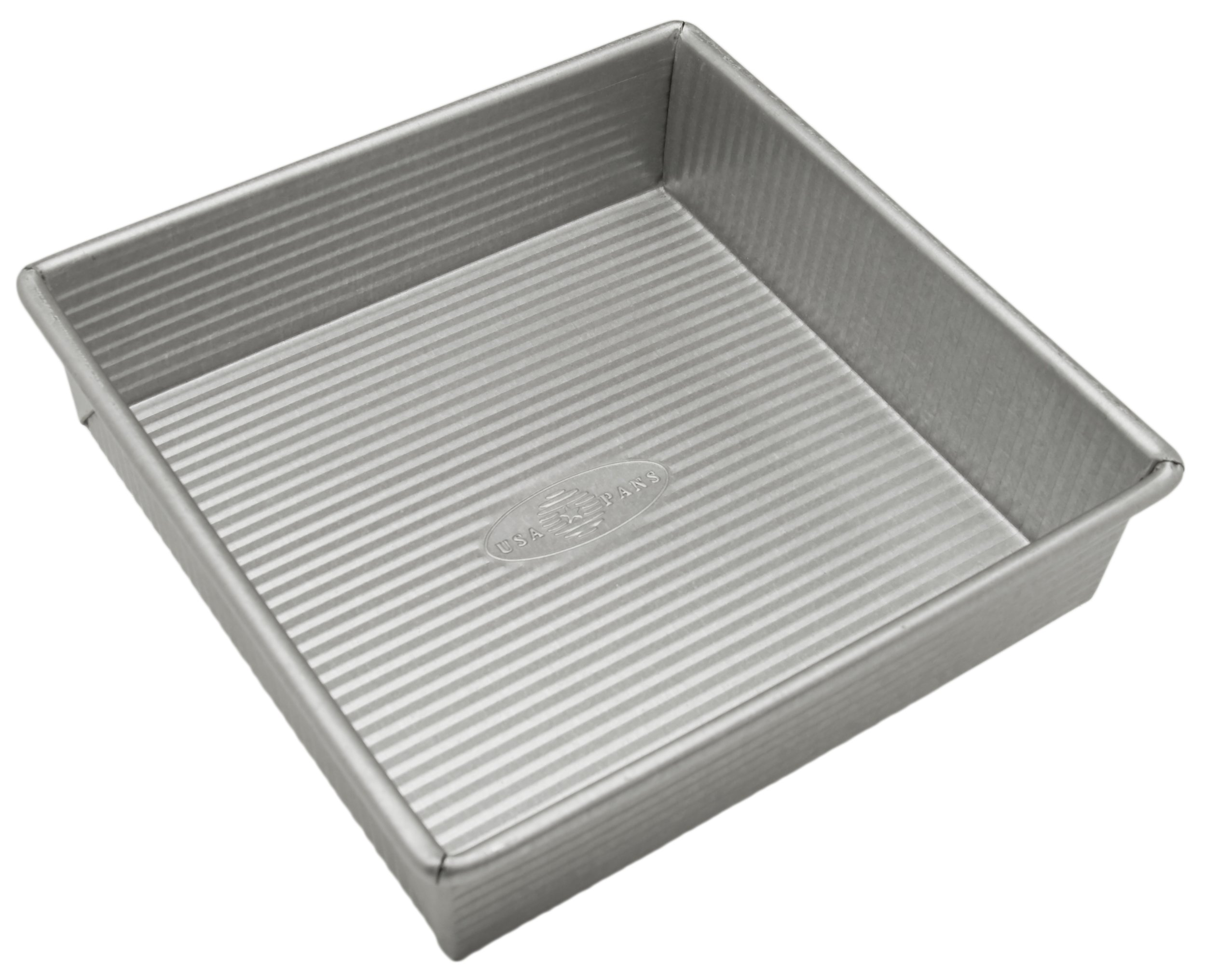 USA Pan Bakeware Square Cake Pan, 8 inch, Nonstick & Quick Release Coating, Made in the USA from Aluminized Steel by USA Pan