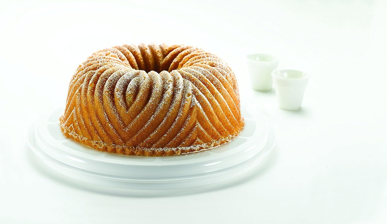 Transparent//White Curver  00416-129-00 Round Cake Box
