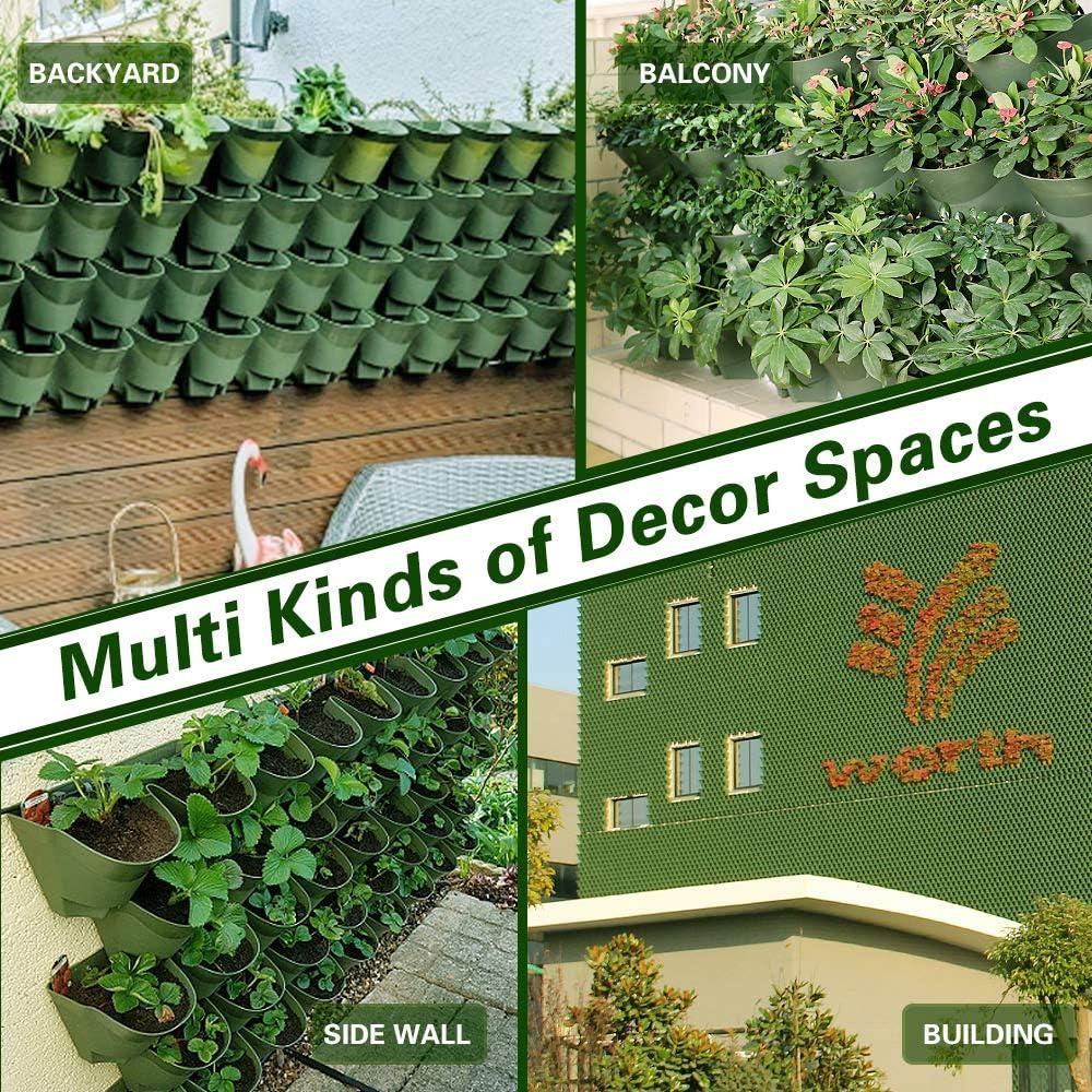 Worth Garden 36 Bolsillos Sembradora Vertical de jard/ín de Interior//Exterior decoraci/ón de Plantas Sistema de riego por Goteo