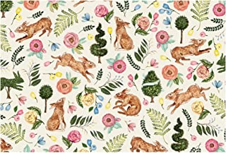product image for Paper Placemats for Dining Table - Disposable Square Paper Placemats for Easter Spring - Rabbit Bunny Garden 24 Sheets- American Made