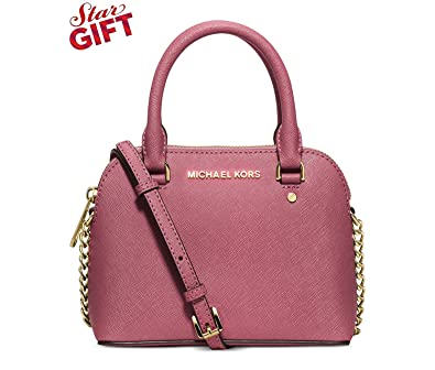 fa800a9a7921e6 Image Unavailable. Image not available for. Color: MICHAEL Michael Kors  Womens Cindy Mini Crossbody (Tulip)