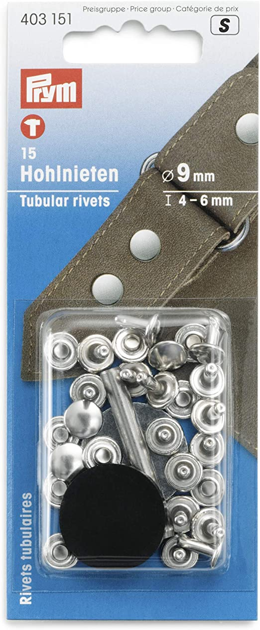 Rivets tubulaires laiton argenté 4-6mm