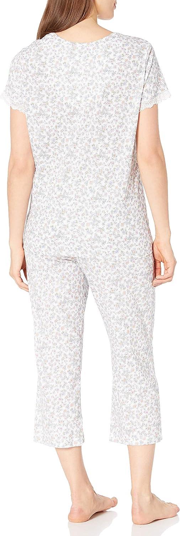 Karen Neuburger Womens Short-Sleeve Girlfriend Crop Pajama Set Pj Pajama Set