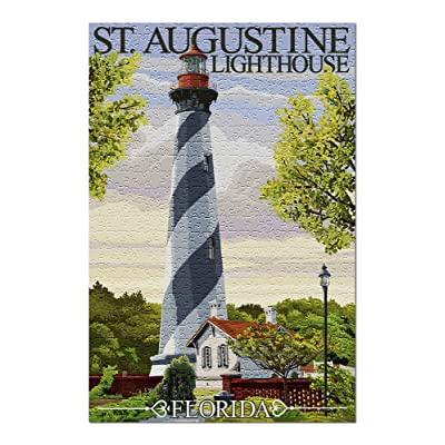 St. Augustine, Florida Lighthouse (Premium 500 Piece Jigsaw Puzzle for Adults, 13x19, Made in USA!): Toys & Games