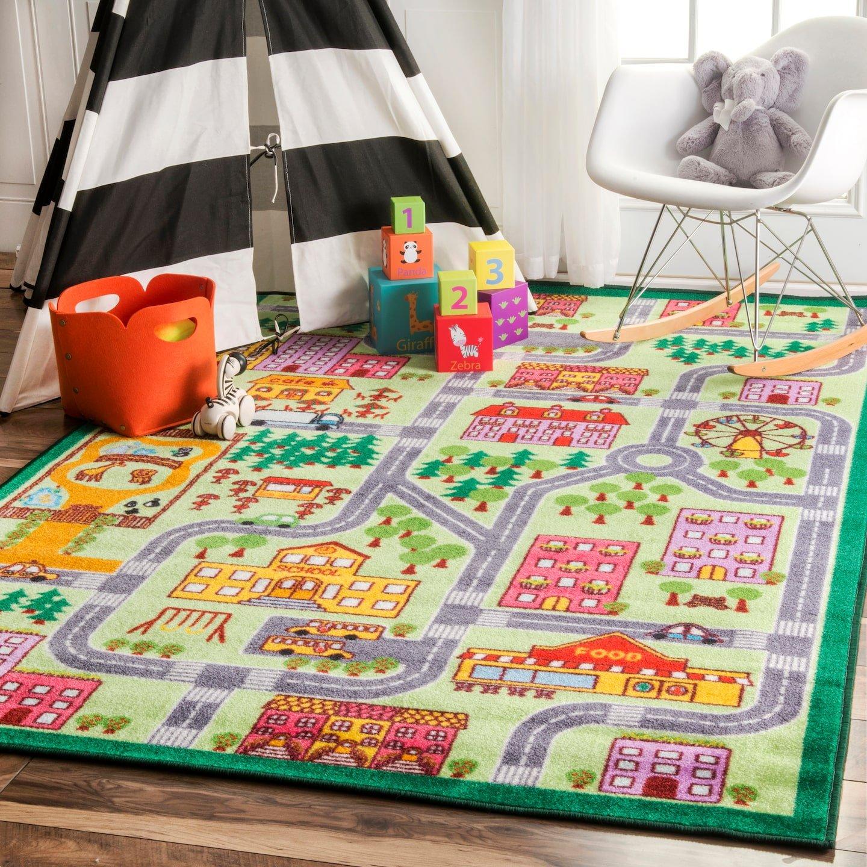 nuLOOM Nursery City Neighborhood Kids Area Rugs, 5' x 7' 5'', Multicolor by nuLOOM
