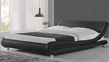Amazon Com Amolife Full Size Bed Frame Deluxe Solid Modern