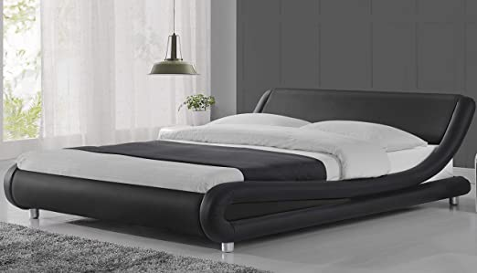 Amazon Com Urest Queen Size Bed Frame Deluxe Solid Modern
