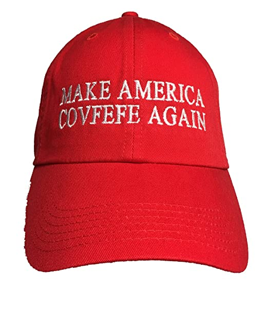 8f23a5c8313 Amazon.com  Make America Covfefe Again - Embroidered Ball Cap RED ...