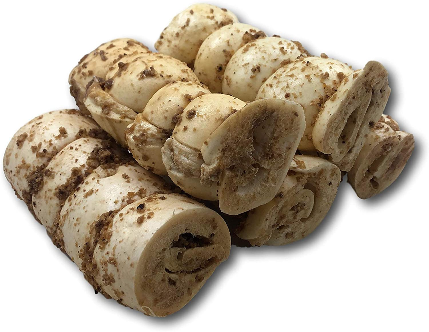 Top Dog Chews Buffalo Beef Cheek Rolls with Bully Dust Sprinkles - 5 Pack from