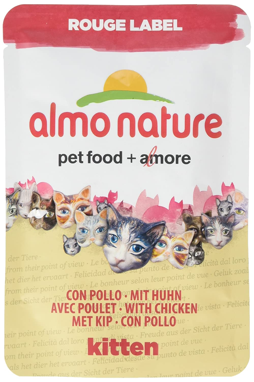 Almo Nature Rouge Label Kitten Food, Pack of 24 x 55g