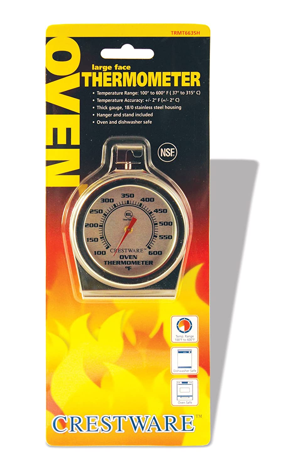 Crestware Oven Thermometer Large Face Crestware Commercial Kitchen TRMT663SH