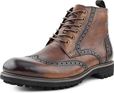 Mens Dress Boots, Wingtip Boots for Men