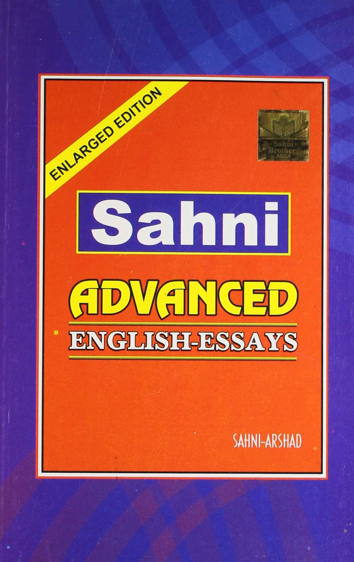 Amazonin Buy Sahni Advanced English Essays Book Online At Low  Amazonin Buy Sahni Advanced English Essays Book Online At Low Prices In  India  Sahni Advanced English Essays Reviews  Ratings