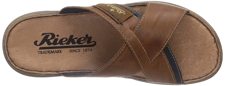 b6fe45ef43e8a Rieker Men's 22099-25 Open Toe Sandals, Brown (Nut/Nautic/Zimt/Navy), 6.5 UK:  Amazon.co.uk: Shoes & Bags