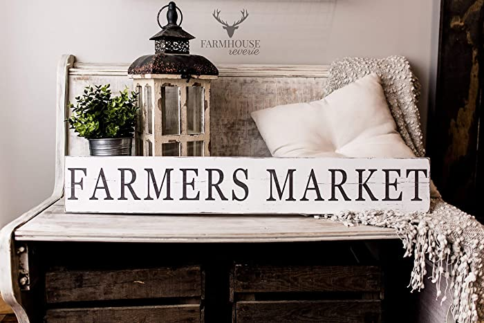 Shabby Chic Kitchen Signs : Amazon.com: farmers market sign rustic signs rustic home decor