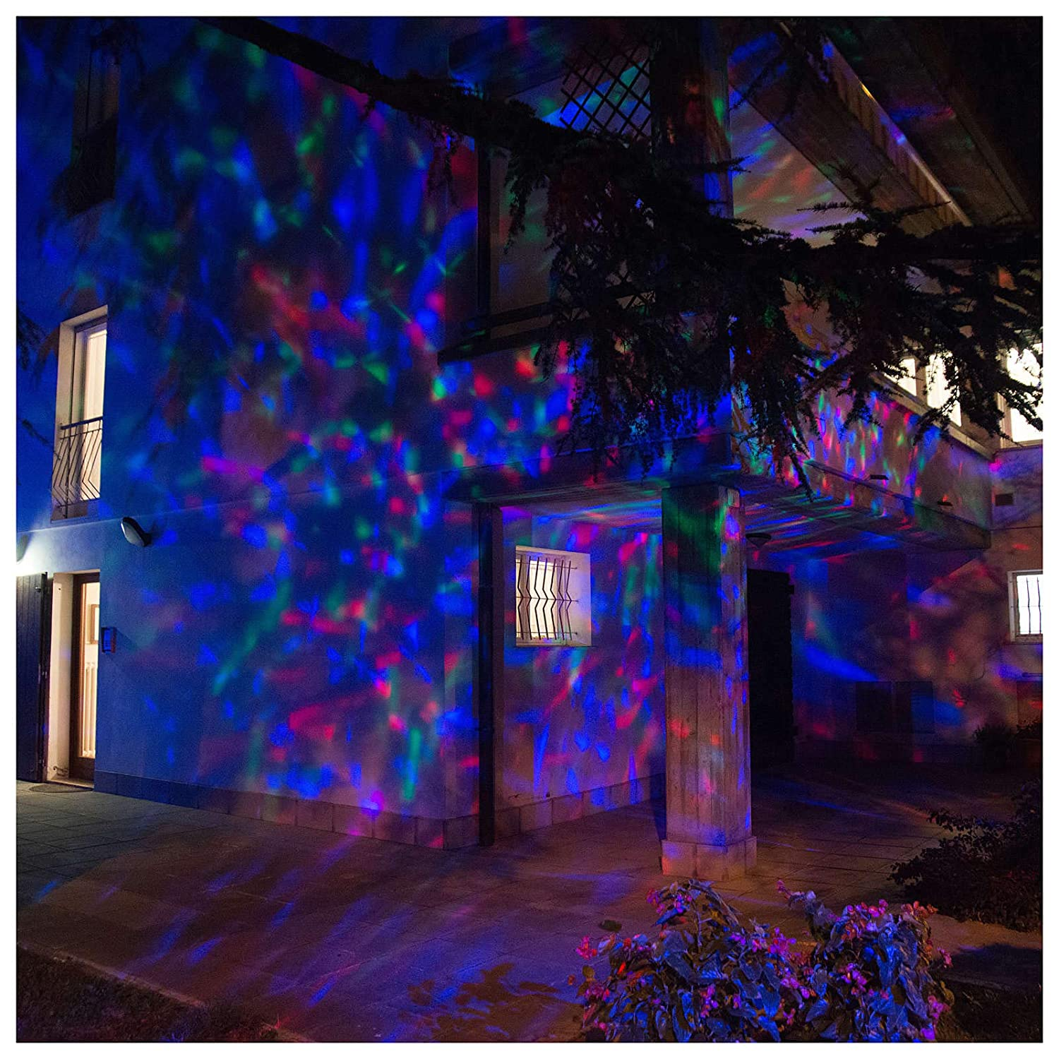Holyart Proyector 3 Luces LED Olas Efecto Agua Multicolor Interior ...