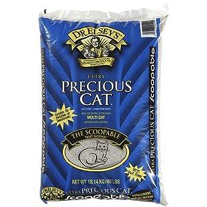 Precious Cat Pack Ultra Premium Clumping Cat Litter 40 Pound Bag (Two Packs)