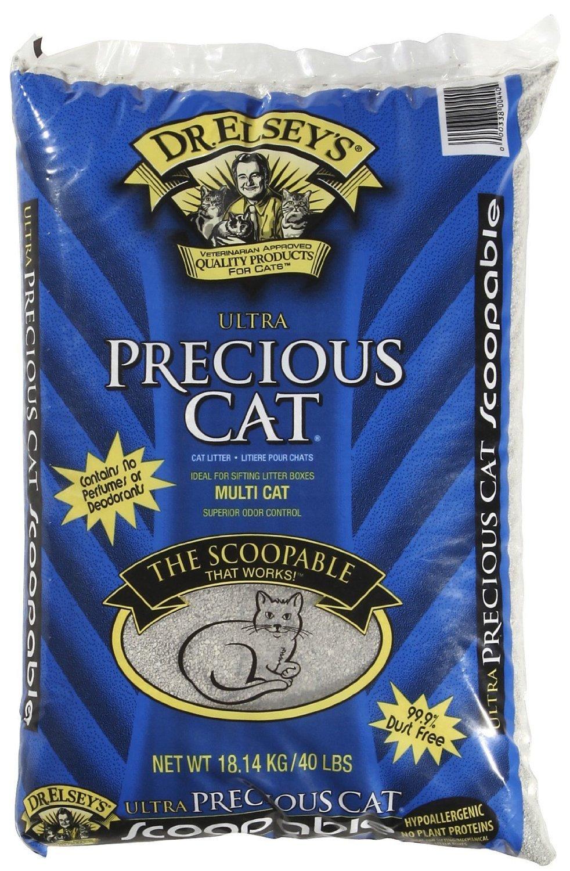2 Pack Precious Cat Ultra Premium Clumping Cat Litter 40 Pound Bag