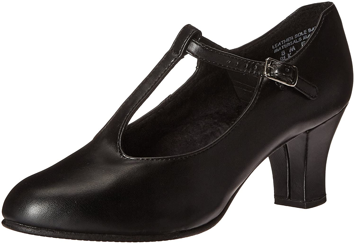 Capezio Women's Jr. Footlight T-Strap Dance Shoe B008QR7L74 6 B(M) US|Black