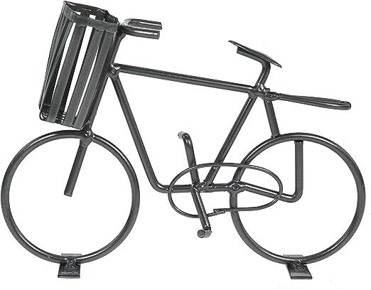 Casablanca Bicicleta con Cesta Decorativa de Metal Decoración ...